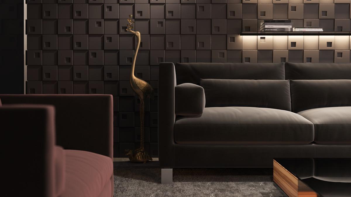 tư vấn thiết kế nội thất phòng khách độc đáo, sang trọng